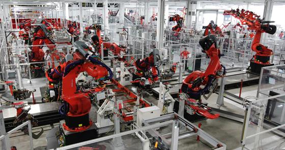 geleceğin fabrikaları ve robotlar