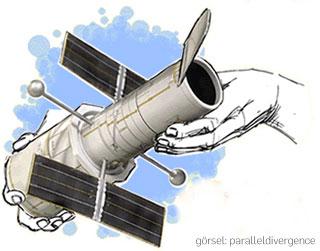 Konu ile alakası yoktur :) Hubble Teleskobu