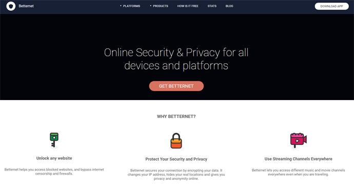 ücretsiz vpn programı Betternet