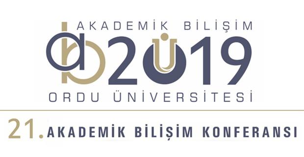 Akademik Bilişim 2019 Konferansında, Ordu Üniversitesindeyiz